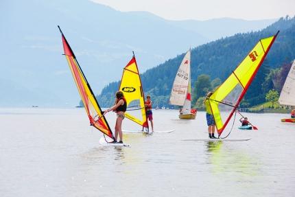 Windsurfen am Millstätter See – Urlaub in Kärnten am See – Pension Elisabeth